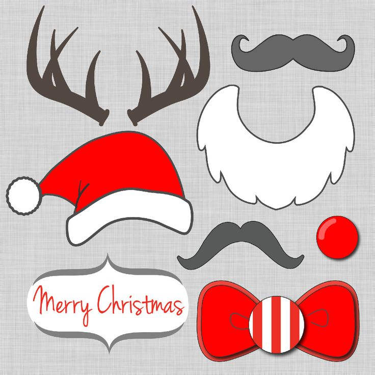FREE #Christmas photo booth prop printables