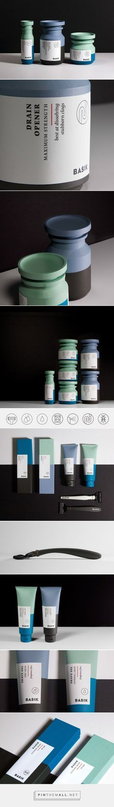 Packaging pour homme. Couleurs.
