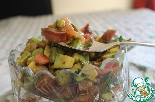 Салат из авокадо и семги - кулинарный рецепт