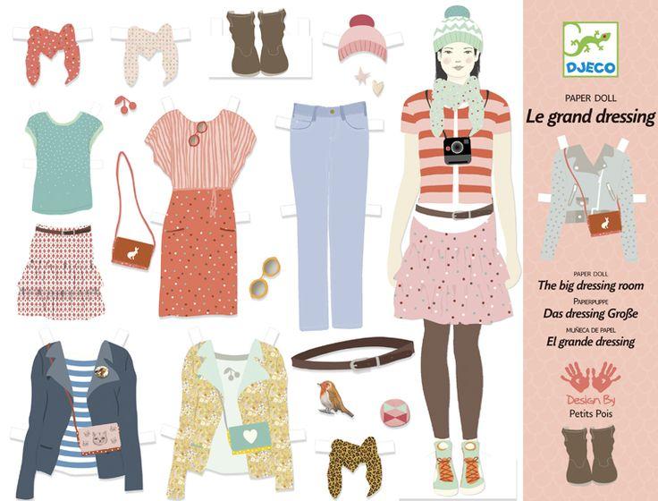 Örök sláger lányoknak: öltöztető babák papírból