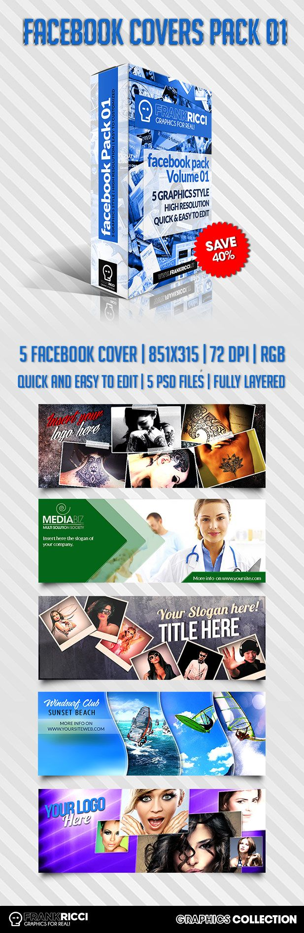 Cover Facebook Pack 01 - Available on http://frankricci.it/facebook-cover-pack-1/