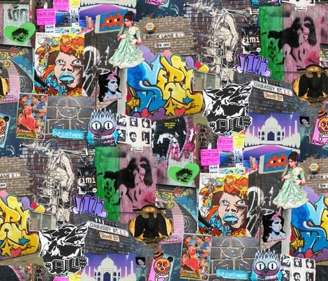 Brick Lane Collage fabric by teja_jamilla on Spoonflower - custom fabric