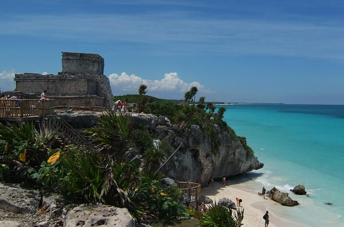 Tulum Express Half-Day Tour from Playa del Carmen Visit Tulum,the only archaeological city on the coast of Quintana Roo where, as well as discovering one of the mosticonic ruins in Mayan culture,you can enjoy one of the best views of the Mexican Caribbean. Discover the Mayan culture,dive into the blue waters of the Caribbean Sea (weather permitting)and return home to tell everyone how youexperienced Tulum.You will be picked up from your hotel in Playa del Carmenor Rivie...