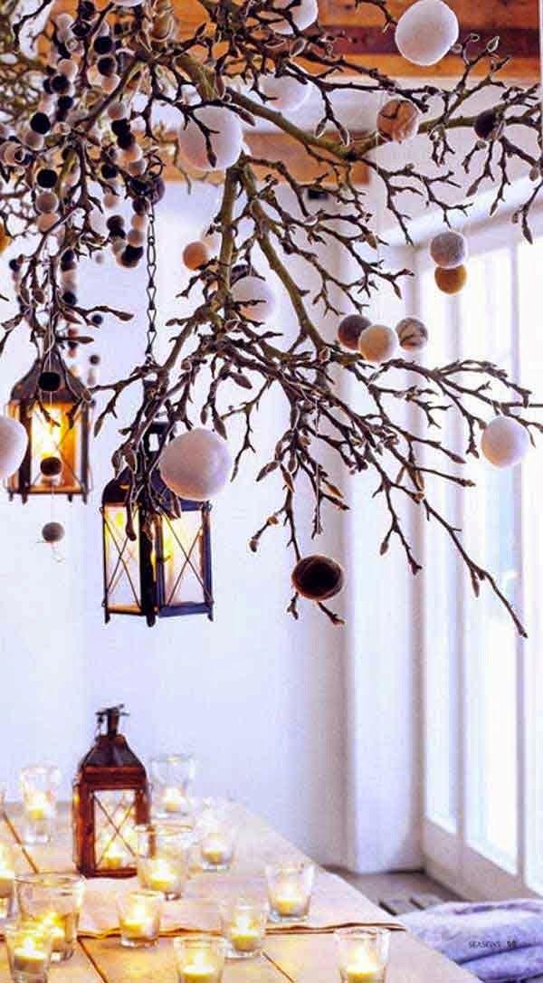 ideas para decorar con ramas secas desde my ventana