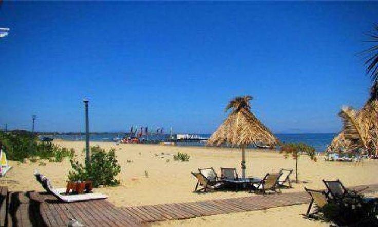 The Beach in Kavos Corfu Greece