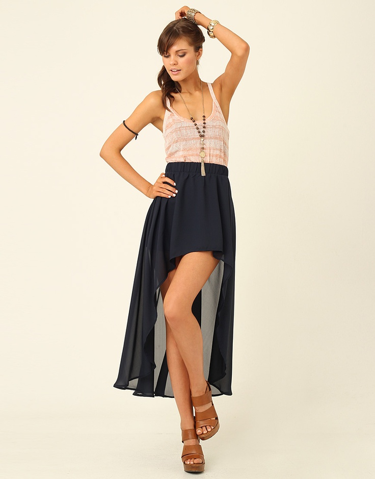 Chiffon Asymmetrical Skirt | Supre $40 (several colours)