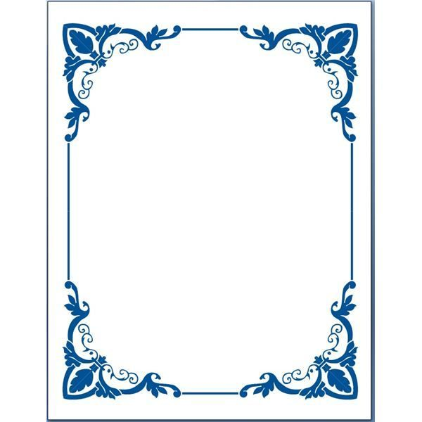 Blue Flower Borders For Word Document 5 Page Border Clipart - Free