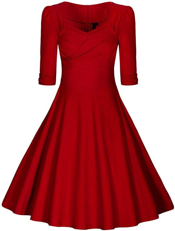 MIUSOL Damen Elegant 50er Jahre Retro Polka Dots ...