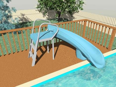 25 best ideas about above ground pool slide on pinterest for Above ground pool slide ideas