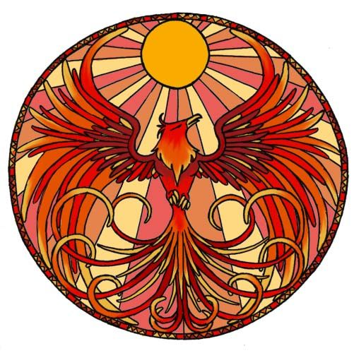Stained glass art   phoenix stained glass by * hairwire
