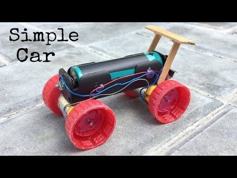 How to Make a Mini Electric Powered Car - Very Simple to