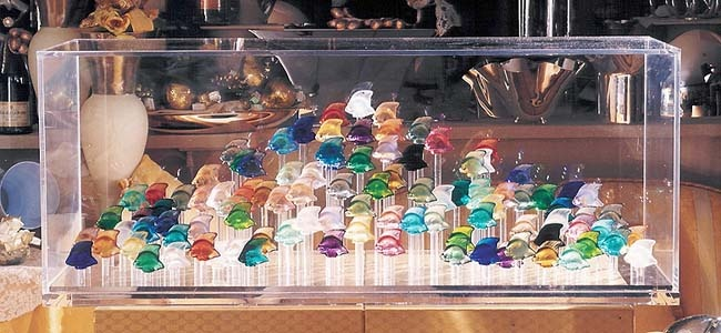 Lalique Aquarium With 100 Fishes Glass Creation