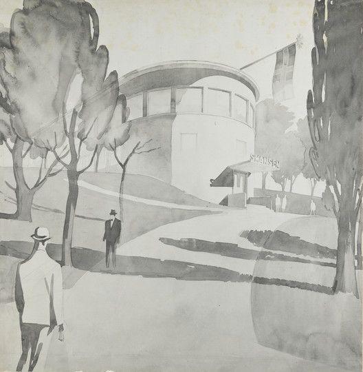 Lars Backer – A Pioneer of Norwegian Modernism,Lars Backer, Restaurant Skansen, Oslo, 1927. Photo: Platou arkitekter