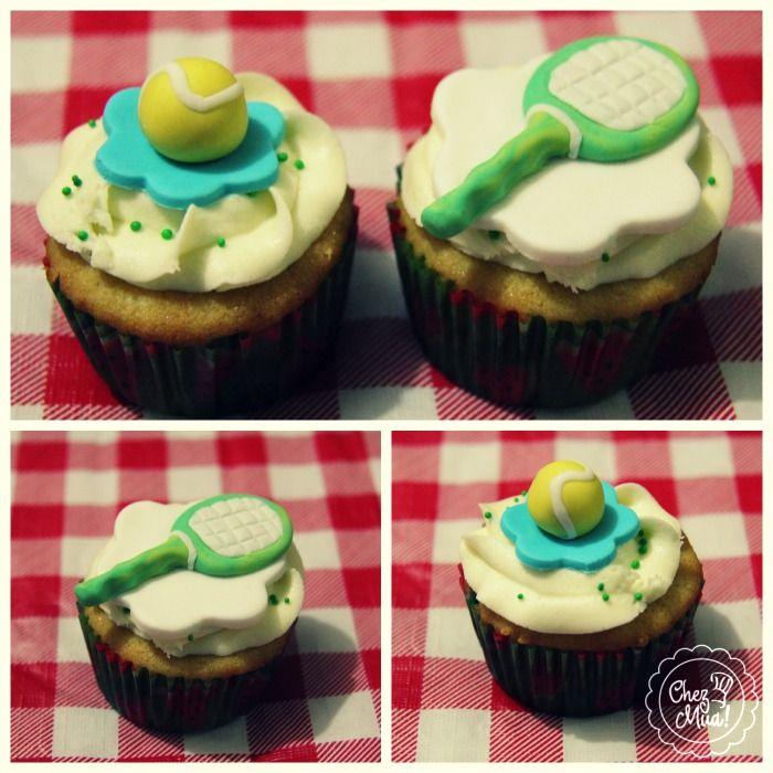 A propósito del #USOpen y del campeón 2013 #RafaNadal #Cupcakes especiales para los fanáticos del #tenis by Chez Mua!   #Cupcakes #reposteria #pâtisserie #Calico #ATP #WTA