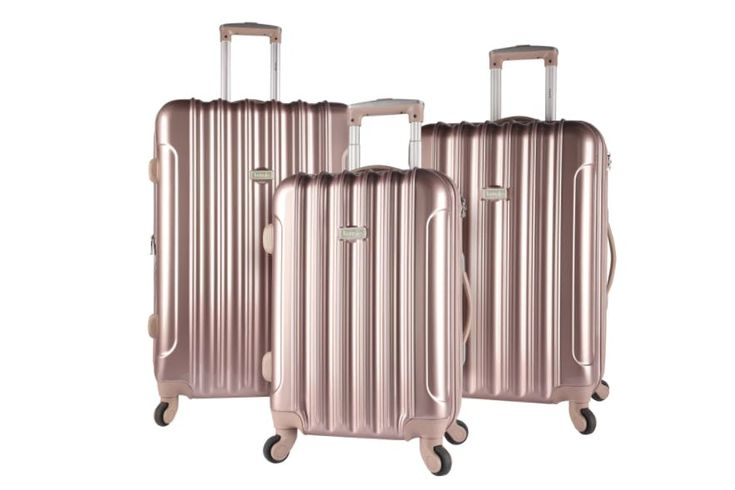 Kensie Metallic 3-piece Expandable Hardside Spinner Luggage Set, $402 $179.09: This fashionable set of three hard-shell suitcases is a do-not-miss pick (especially since they're over $200 off).