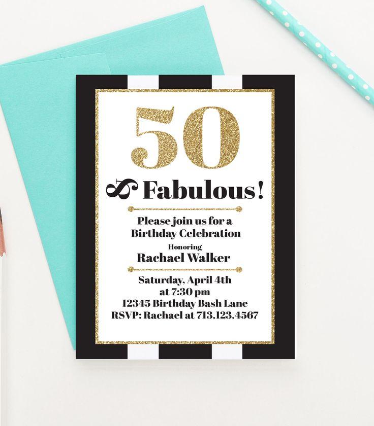25 best ideas about 50th Birthday Invitations – Invitations 50th Birthday