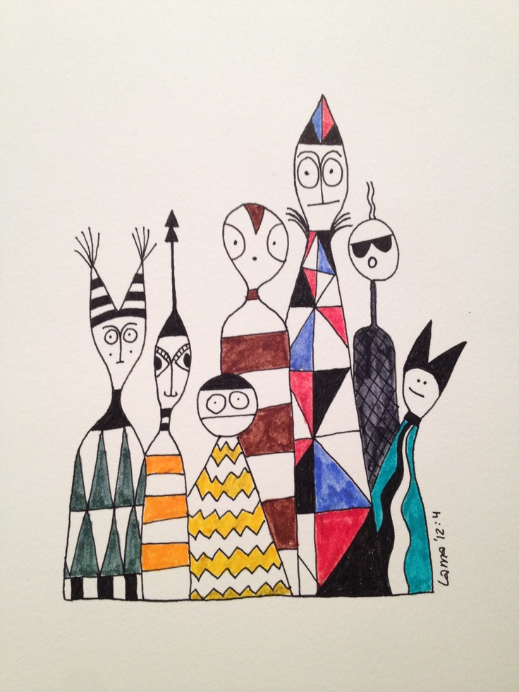 Strangers. Drawn by Lisa Andersson