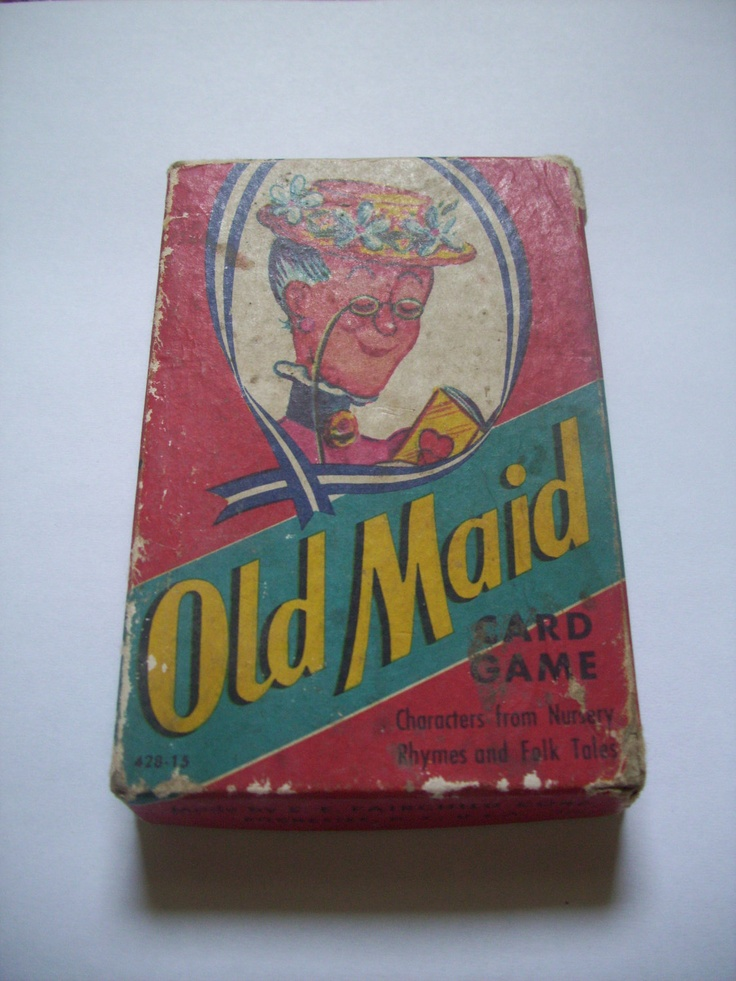 Old Maid Card Game Made By E E Fairchild Crop In Rochester