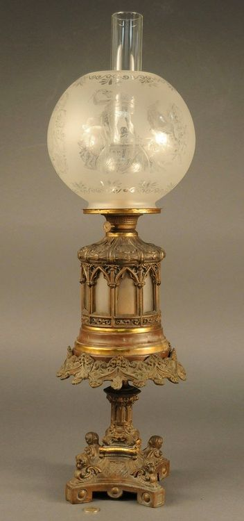 Rare Victorian oil lamp.