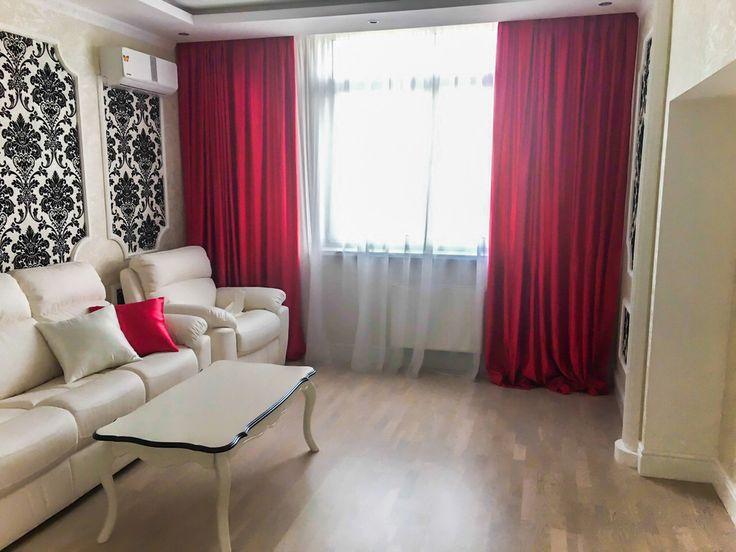 Розовые шторы для гостиной