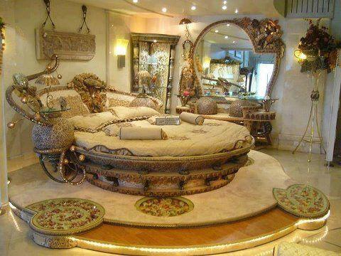 Beautiful Beds | Beautiful Bed Room,,golden Color Bedroom Design Part 49