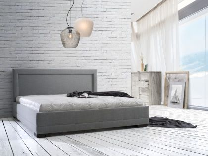 lozka tapicerowane-Łóżko Sanremo- materace