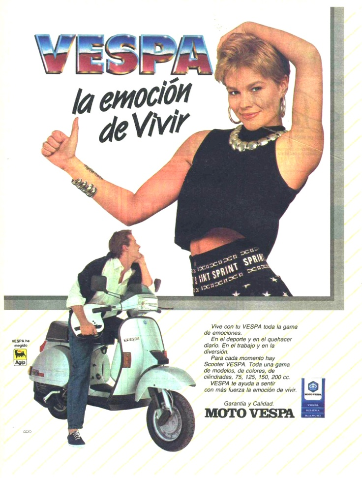 Anuncio Vespa TX. año 1989