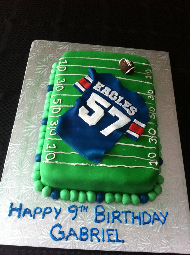 how to make a football jersey cake