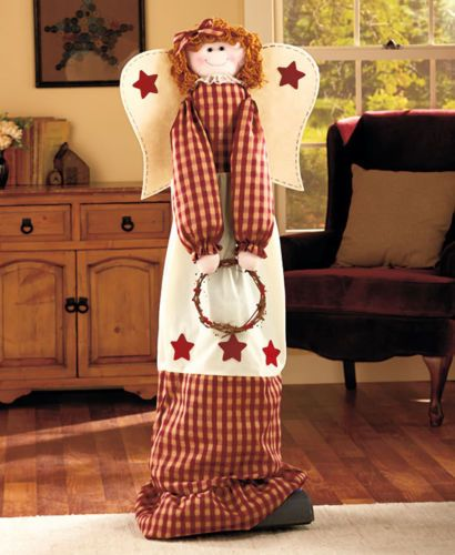 Country Angel Vacuum Cleaner Cover Star Checkered Rustic Home Decor in Home & Garden, Household Supplies & Cleaning, Vacuum Parts & Accessories | eBay