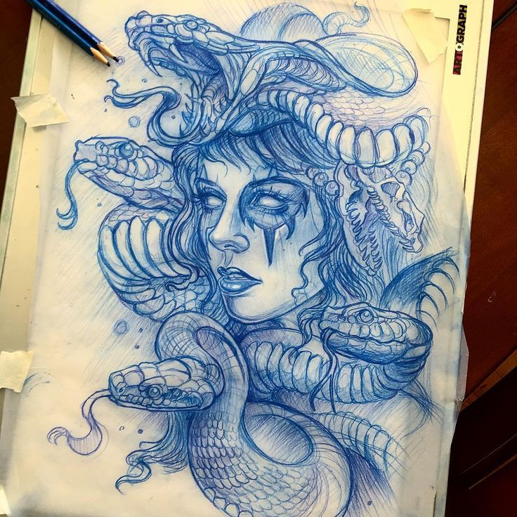 Medusa sketch for Steve today ✏️ #sketch #pencils @worldofpencils…
