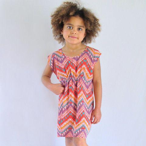 little girls heaven - Fitted slip dress - zig zag - BD1