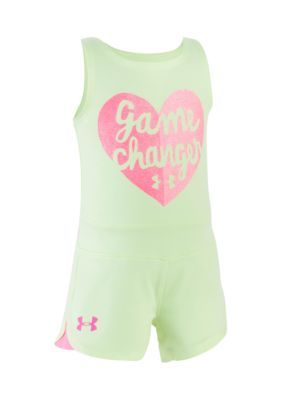 Under Armour  Game Changer Romper - Pale Moonlight - 24 Months