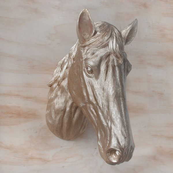 How gorgeous is this gold horse head Wall Hanging! Who wouldn't love a massive Gold Horse Head hanging in your house! Also perfect for a kids room. Made from Resin. Shop in-store or online now!