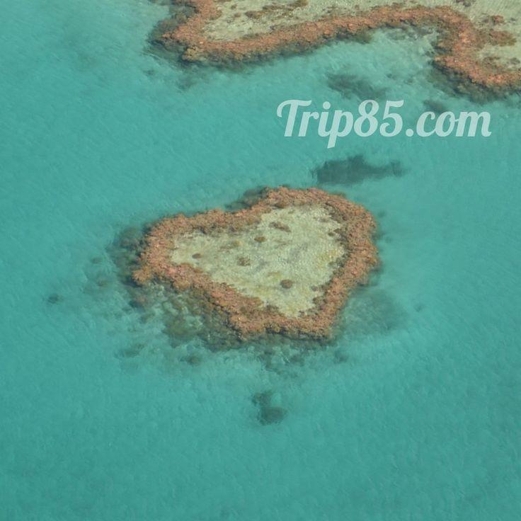ile en forme de coeur, australie vue du ciel, blog voyage trip 85 http://www.trace-ta-route.com/voyage-en-australie-entretien-avec-romain-du-blog-voyage-trip-85-com/ #TraceTaRoute www.trace-ta-route.com