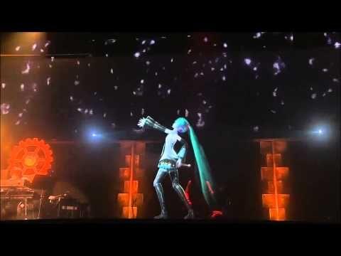 Senbon-Zakura ( Thousand Cherry Trees ) Vocaloid Miku Hatsune 3D Live Party / 千本桜 初音 ミク ライブパーティー