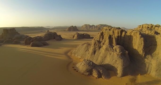 Stunning aerial videos of the Algerian Sahara and Rub al Khali (Empty Quarter) in Abu Dhaba along with the Nevada desert leaves one in awe of Mother Nature