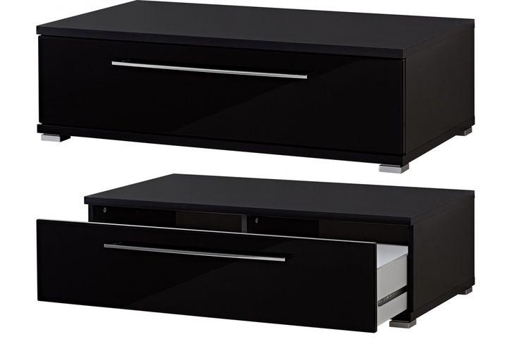 impressionnant  meuble tv noir laqué