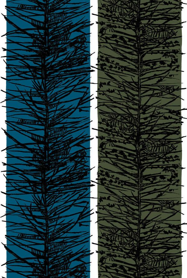 Lucienne Day Larch fabric for curtains