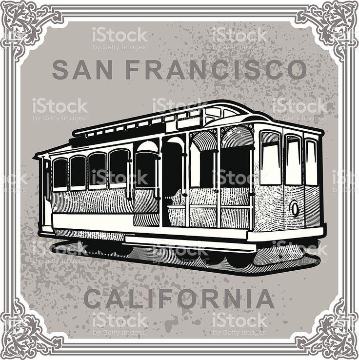 San Francisco-vintage stockowa ilustracja wektorowa royalty-free