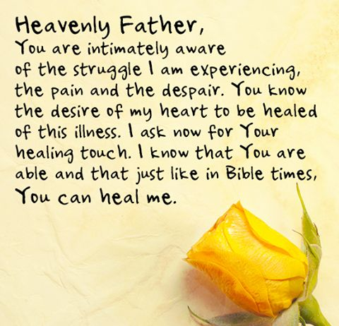 A prayer of healing...for my husband Dave and daughter Kelly and all people who suffer from Crohn's disease and any physical or emotional diseases.