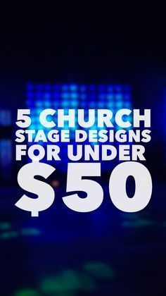 I like the chalkboard wall. Easy church stage designs for under $50 | Josh Blankenship Visit