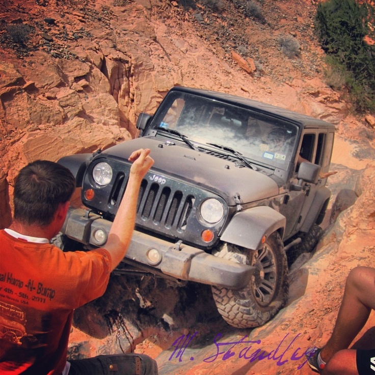 Jeep 2012 JKU Trail running in Logandale, NV