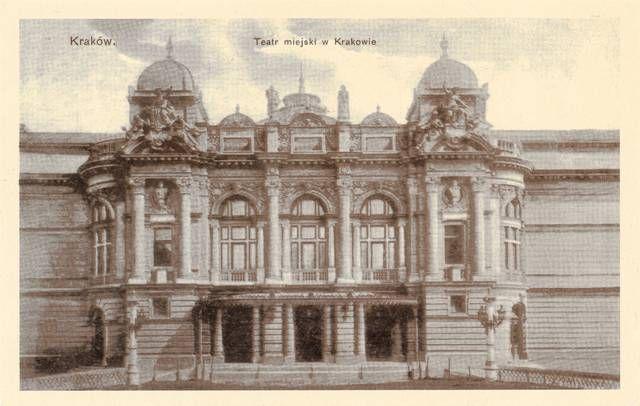 Wejście główne do teatru, archiwum Teatru im. Słowackiego w Krakowie