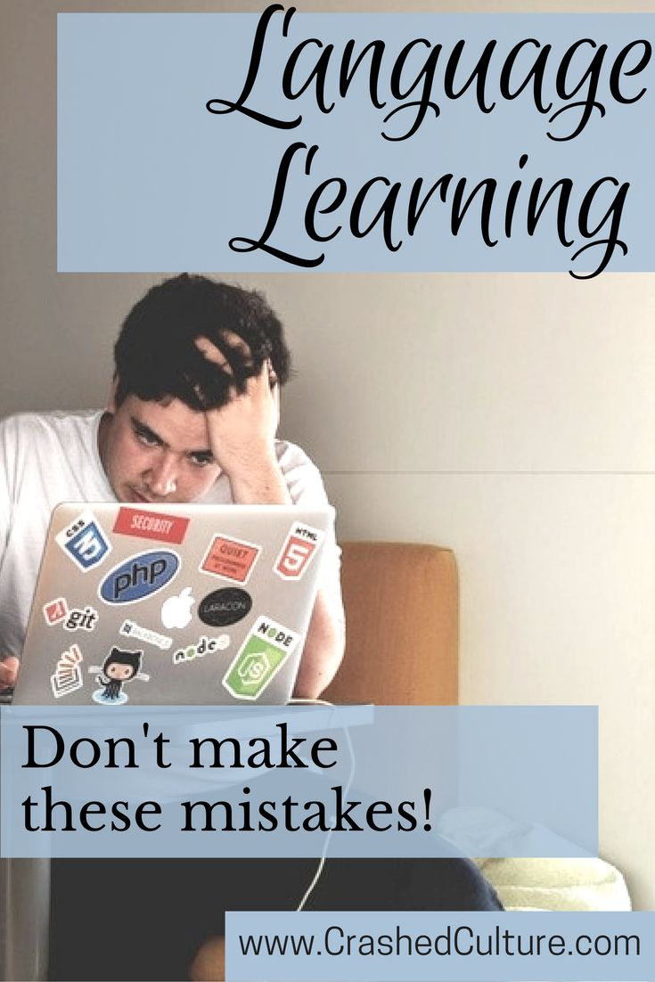 Learning a new language is hard, and you'll never not make mistakes. However, learn my lesson and don't commit a language learning mistake you can prevent! via @crashedculture