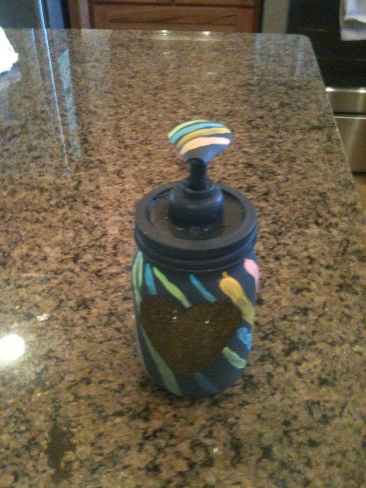 Soap dispenser mason jar made by Natalie Smith