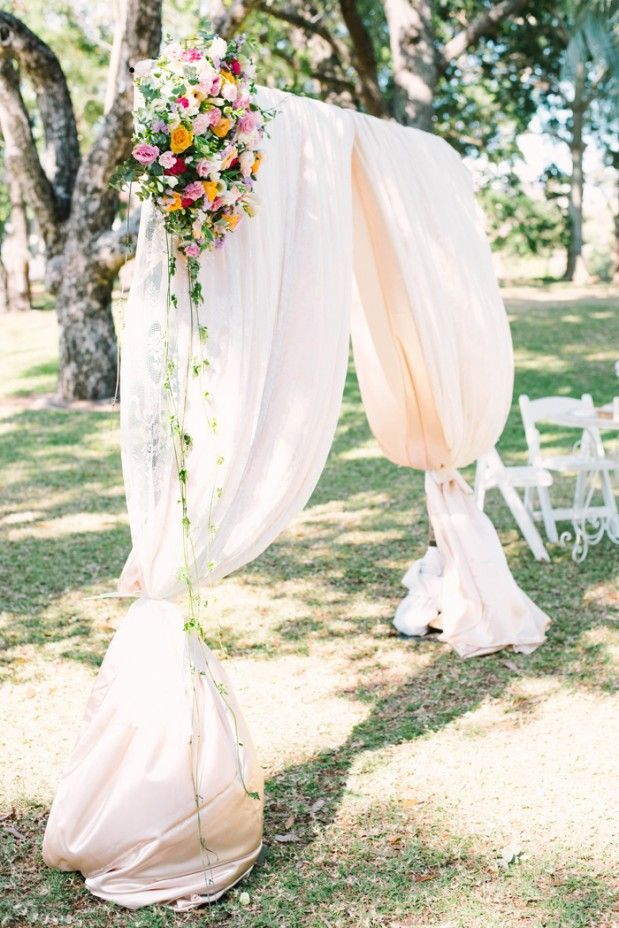 Ceremony Styling/ Florals: Bride - Sarah and Kieran's Spring DIY Wedding by Miss Weddings (Styling at the ceremony) + Bird & Boy Photography - via Grey likes weddings