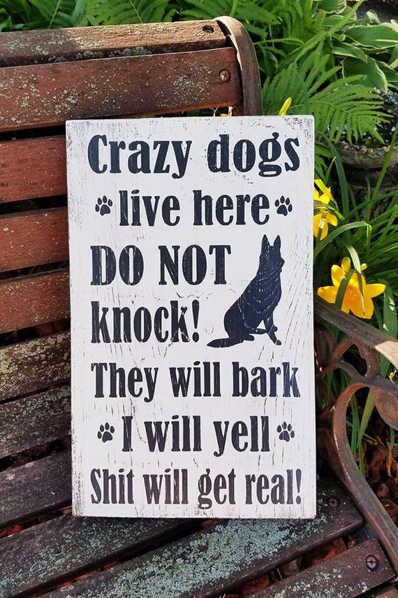 I will Yell Wood Sign Front Door Crazy Dogs Live Here They will Bark No Solicitors Sign Door Sign Shit will get Real Do Not Knock