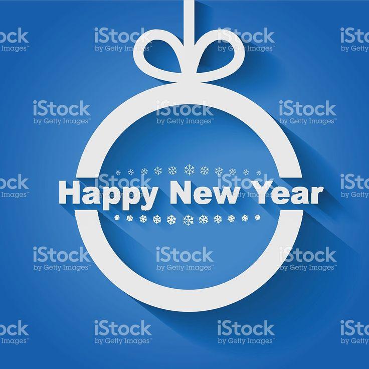 Рождественский бал со словами «С Новым Годом» роялти-фри стоковый вектор искусства