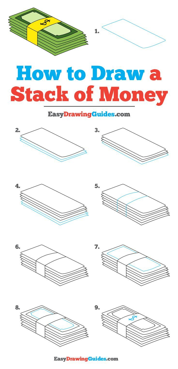 How To Draw A Stack Of Money Really Easy Drawing Tutorial Drawing Tutorials For Beginners Drawing Tutorial Easy Drawing Tutorial