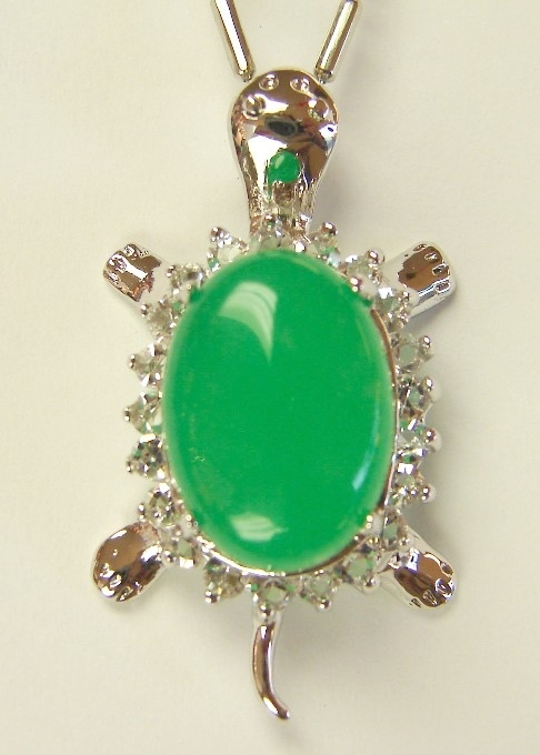 Jade Turtle Pendant for Good Health